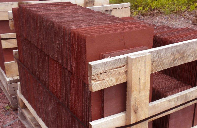 Red Roofing Slate